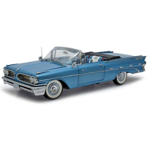Carrinho Pontiac Bonneville 1959 Open Convertible Platinum 1:18 Sunstar