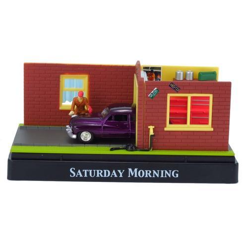Miniatura Diorama Saturday Morning Mercury Coupe 1949 1:64 (c/ Display em Acrílico) Motormax