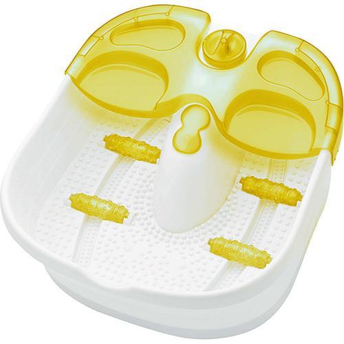 Massageador Hidromassageador Aqua Foot 220v Amarelo/branco Relaxmedic Rm-fs0102