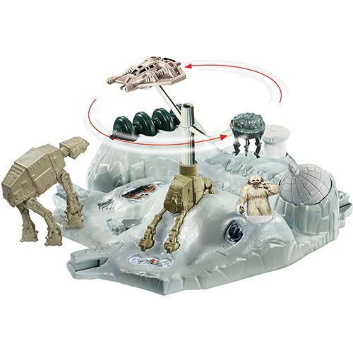Pista Hot Wheels Star Wars Batalhas no Espaço Hoth Echo Base Battle Mattel