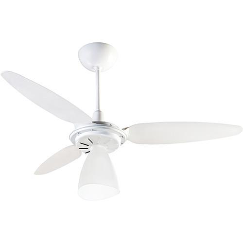 Ventilador de Teto 3 Pás Ventisol Wind Light Branco 96cm - 110v