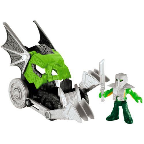Boneco Veículo do Castelo Cabeça de Dragão Medieval Imaginext Mattel