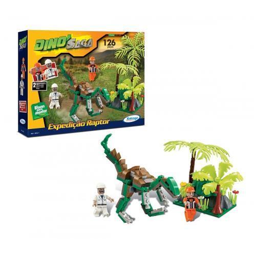 Xalingo Dino Saga Expedição Raptor 126 Peças