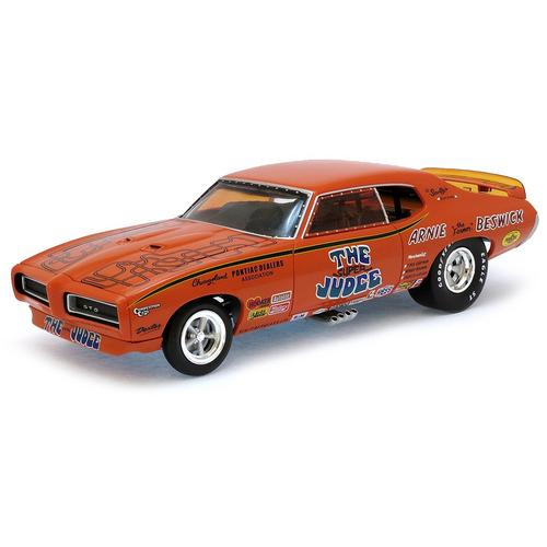 Carrinho Pontiac Gto 1969 Super Judge Funny Car 1:18 Autoworld