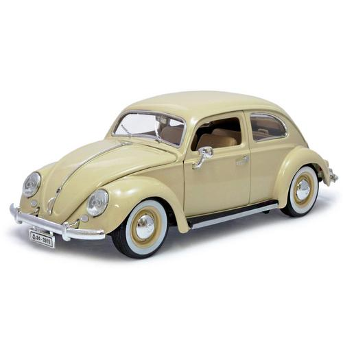 Carrinho Volkswagen Fusca Kafer 1955 1:18 Bege 18-12029 Bburago