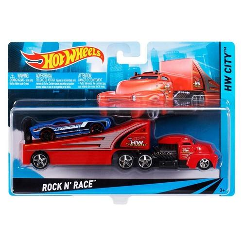 Caminhão Hot Wheels - Transportador Rockn Race Vermelho Bdw59 Mattel