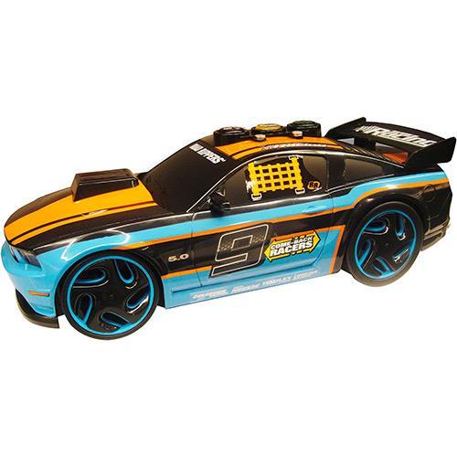 Carrinho Come Back Racers Mustang Gt Azul/laranja/preto 2974 Dtc