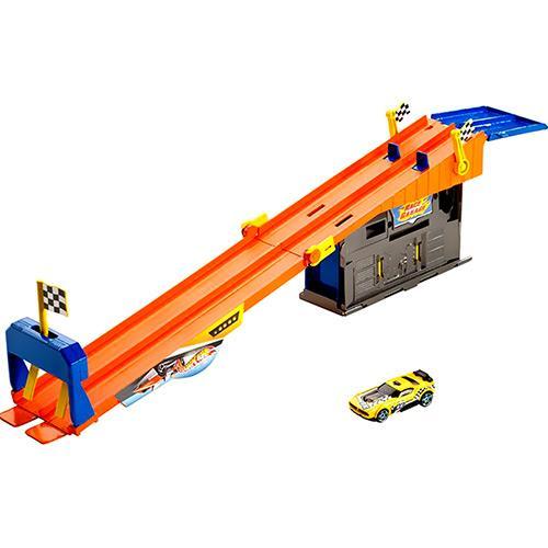 Pista Conjunto Garagem Hot Wheels Corrida Com Ação X9295/x9296 Mattel