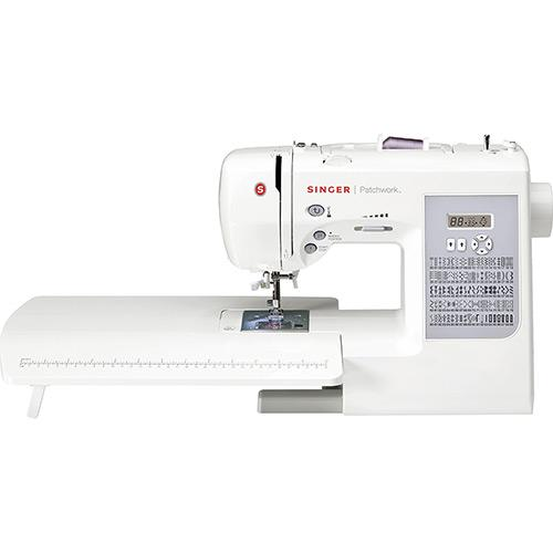 Máquina de Costura Digital Singer Patchwork 7285 750 Ppm 91 Pontos Branco - 110v