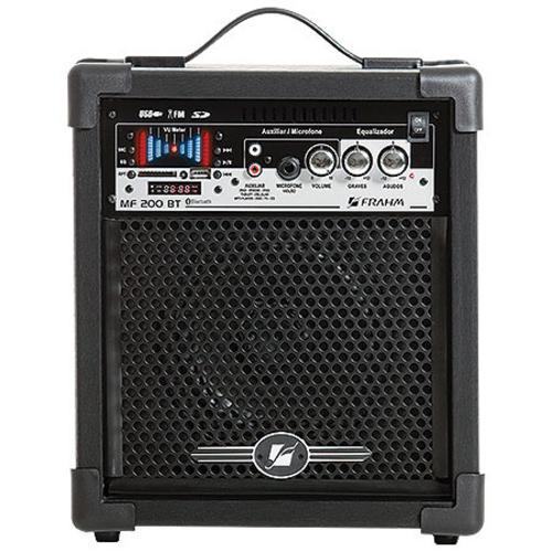Caixa Acústica Frahm Amplificada - Preto 50 W Rms 200bt