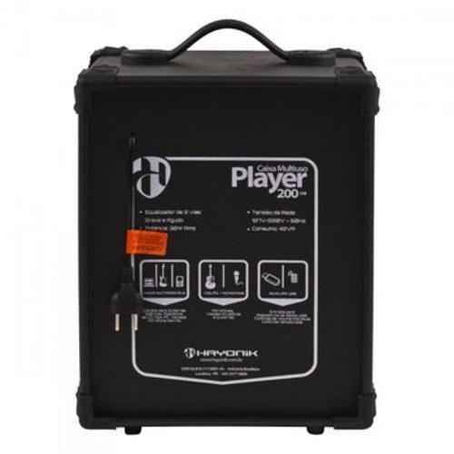 Caixa Acústica Hayonik Multiuso Amplificada 30 W Rms Player 200