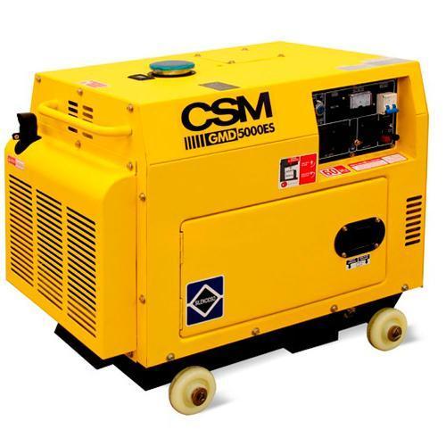 Gerador de Energia Diesel 4500w Csm 4 Tempos Bivolt - Gmd5000es