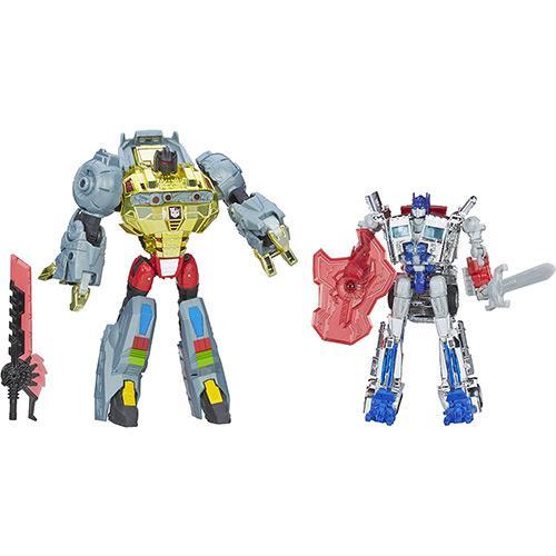 Boneco Transformers Grimlock e Optimus Prime Hasbro