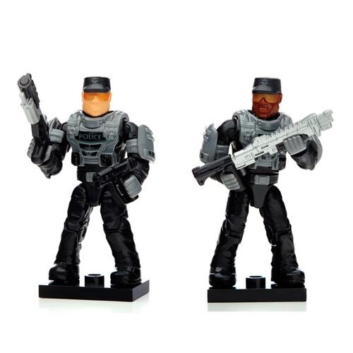 Boneco Mega Blocks Halo Armaduras Custom Police Mattel