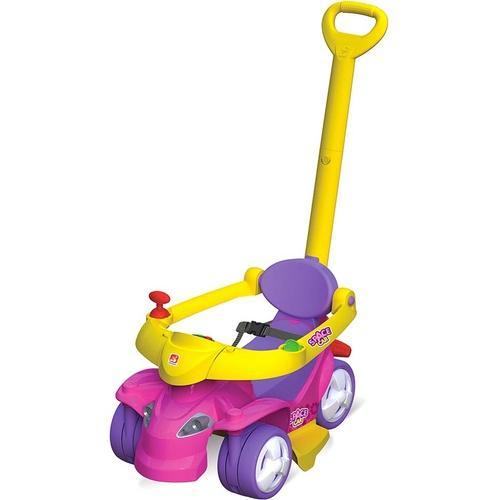Andador Bandeirante Amarelo, Roxo e Rosa Spacecar
