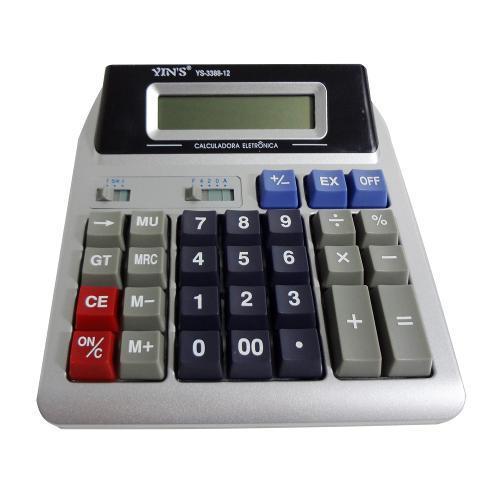 Caculadora Eletrônica 12 Dígitos Com 2 Visores Ys3388 Yins