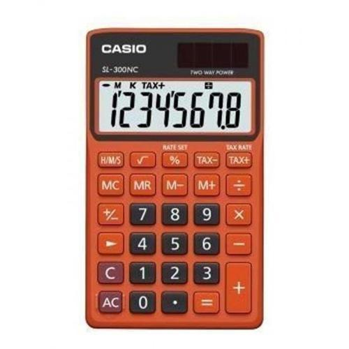 Calculadora Dde Bolso 8 Dígitos Laranja Sl300ncor Casio