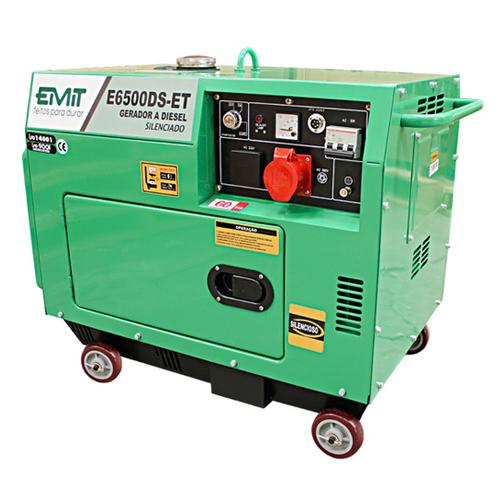 Gerador de Energia Diesel 6500w Emit Bivolt - E6500det