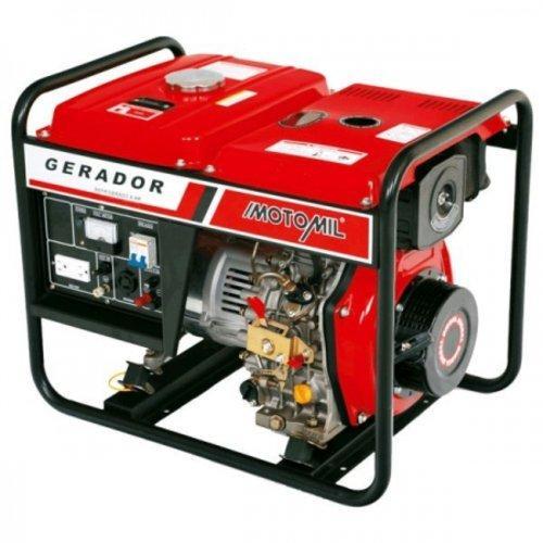 Gerador de Energia Gasolina 5000w Motomil 4 Tempos Bivolt - Mg5000cl