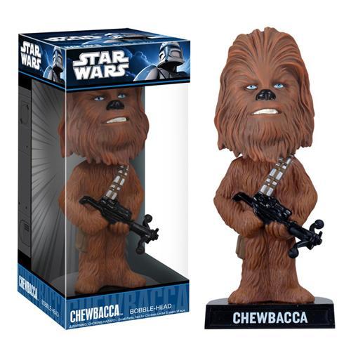 Boneco Chewbacca Bobble Head Funko Wacky Wobbler Star Wars Funko