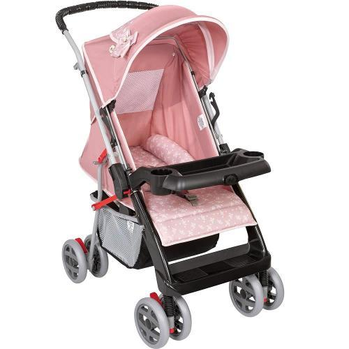 Carrinho de Bebe Tutti Baby Thor Coroa Rosa