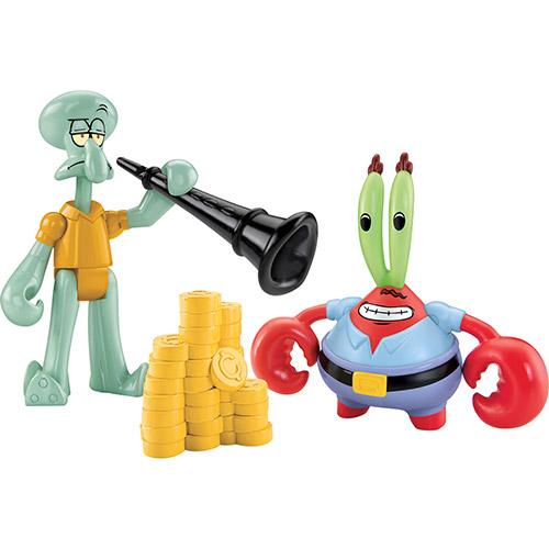 Boneco Imaginext Bob Esponja Figuras Bob Esponja & Squid Mattel