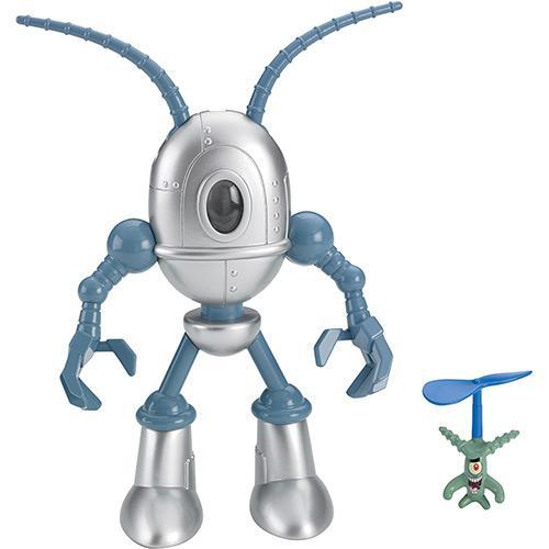 Boneco Imaginext Bob Esponja Figuras Plankton & Chumbot Mattel
