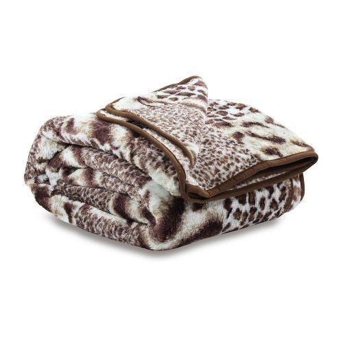 Cobertor Solteiro Raschel Bichos Camesa