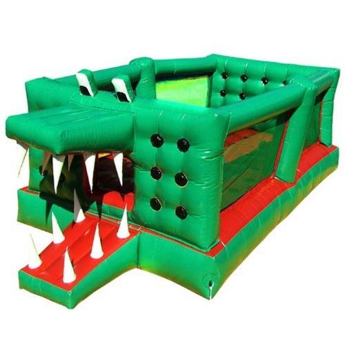 Cama Elástica Mundi Toys Inflável Jacaré 6.0m X 3.0m - Verde