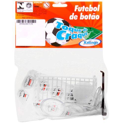 Jogo de Futebol de Botão Toque de Craque S/ Mesa - Botão Branco/preto/vermelho 07315 Xalingo