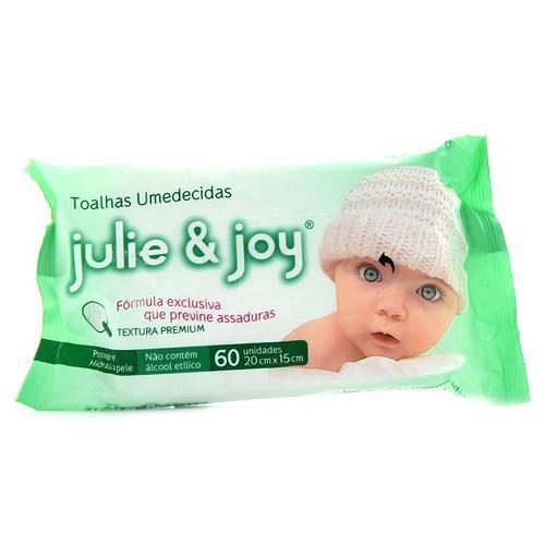 Lenço Umedecido Verde - 60 Unidades Julie & Joy