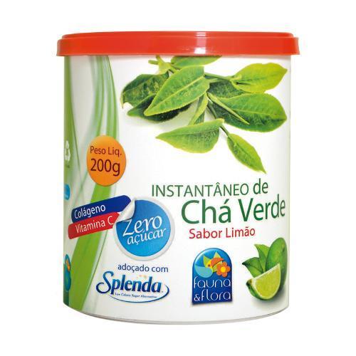Fauna & Flora Instantâneo de Chá Verde 200g Limão