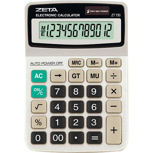 Calculadora de Mesa 12 Dígitos Zt730 Zeta