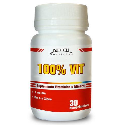 Nitech Nutrition 100% Vit 30 Cápsulas