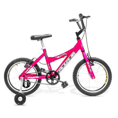 Bicicleta Gts M1 Walk Kids Aro 16 Rígida - Rosa