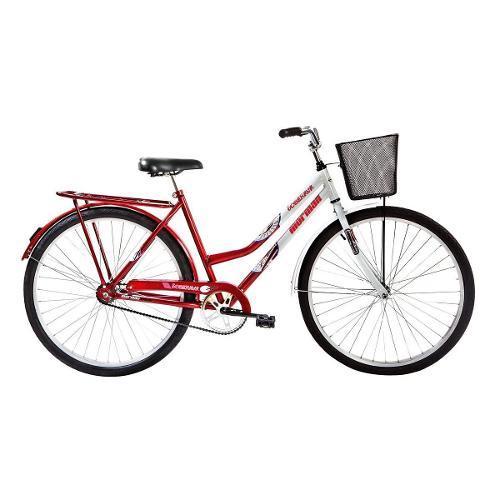 Bicicleta Mormaii Soberana Cp Aro 26 Rígida - Branco/vermelho