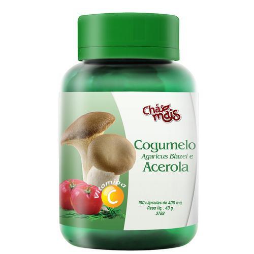 Chá Mais Cogumelo Agaricus Blazei C/ Acerola 100 Cápsulas