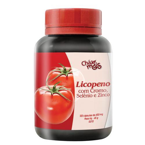Chá Mais Licopeno Com Cromo, Selênio e Zinco 100 Cápsulas