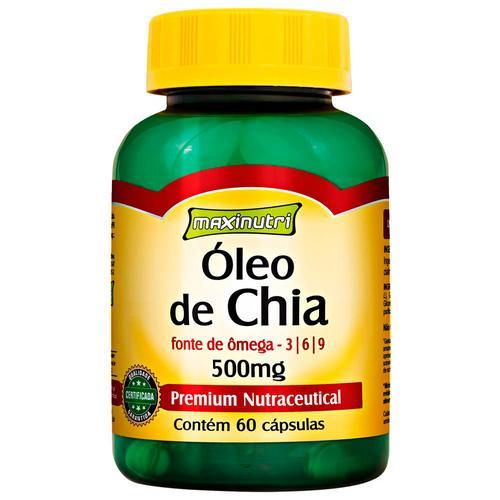 Maxinutri Óleo de Chia 60 Cápsulas