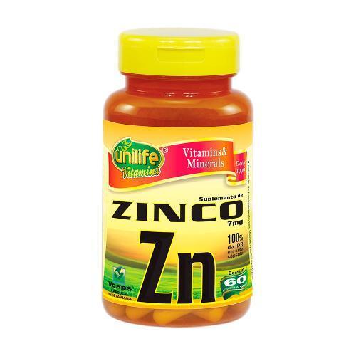 Unilife Zinco Quelato 60 Cápsulas