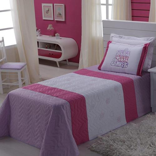 Colcha Classic Home Solteiro Love Music 2 Peças
