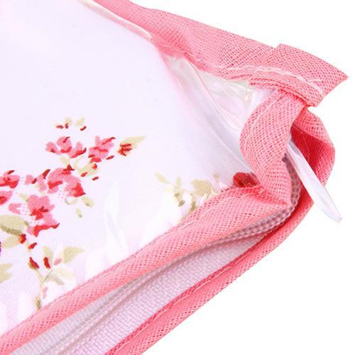 Trocador C/ Espuma Plastificada Cristal Rosa Com Branco Batistela