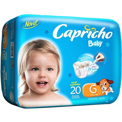 Fraldas Descartáveis Baby Prática G - 20 Unidades Capricho
