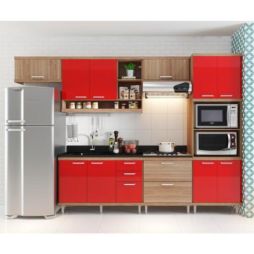 Cozinha Completa Multimóveis Compacta 10 Portas 6 Gavetas
