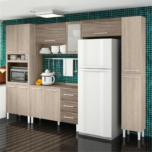 Cozinha Completa Sallêto Modulada Master 11 Portas 3 Gavetas