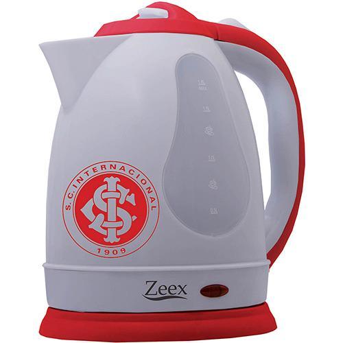 Chaleira Elétrica Zeex 1,8l - Branca e Vermelha Min8 110v