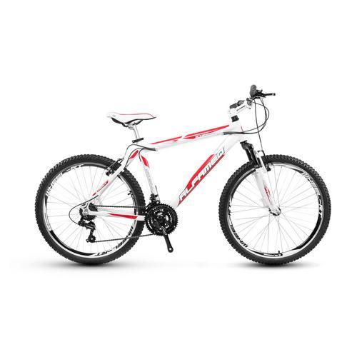 Bicicleta Alfameq Stroll Vb T17 Aro 26 Susp. Dianteira 21 Marchas - Branco/vermelho