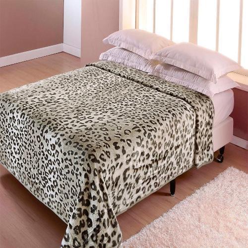 Cobertor Casal Leopardo Corttex Casa