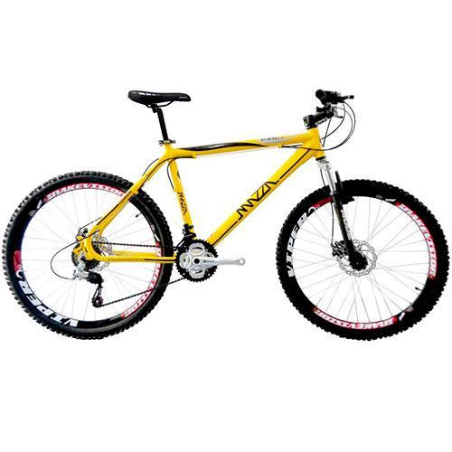 Bicicleta Mazza Fire 112 T21 Rst Aro 26 Susp. Dianteira 21 Marchas - Amarelo