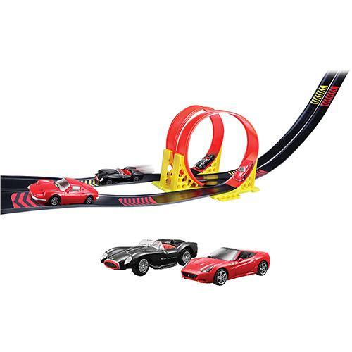 Pista Loop Duplo Com Carrinho Ferrari 1:43 18-31216 Bburago